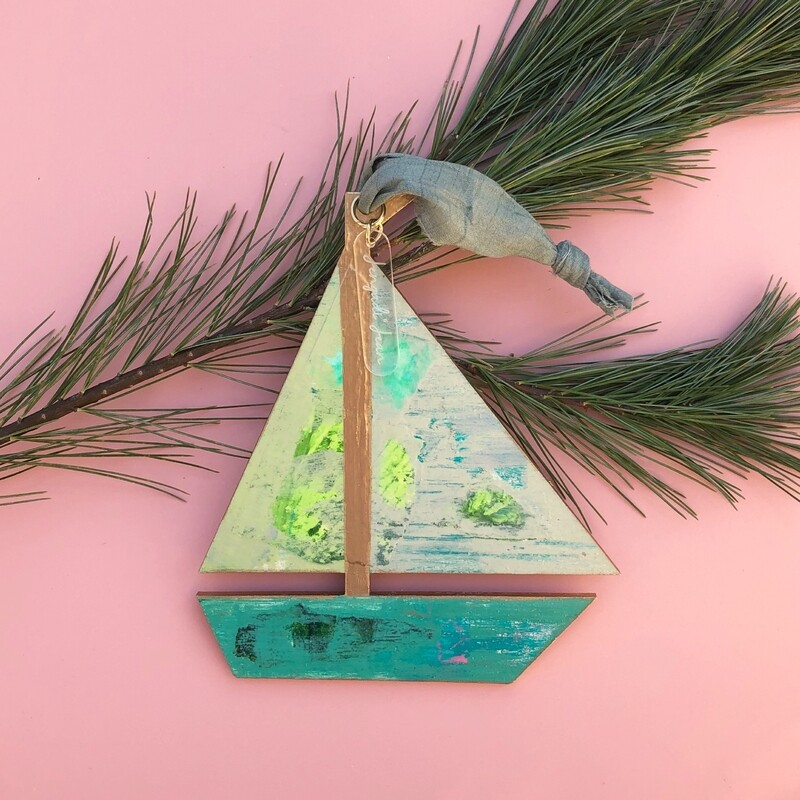 Sailboat Ornament #7