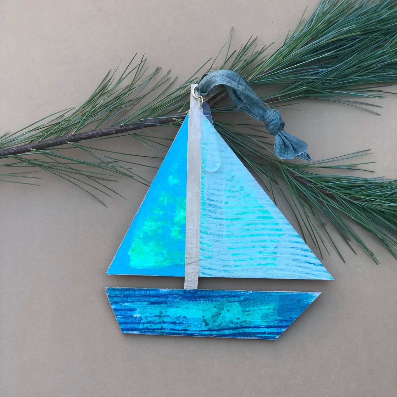 Sailboat Ornament #14
