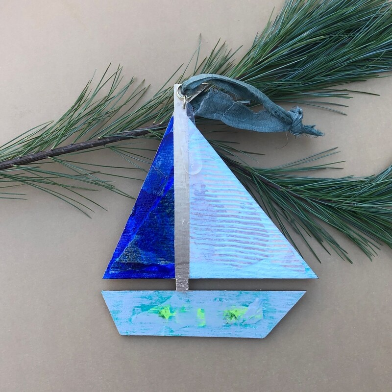 Sailboat Ornament #17