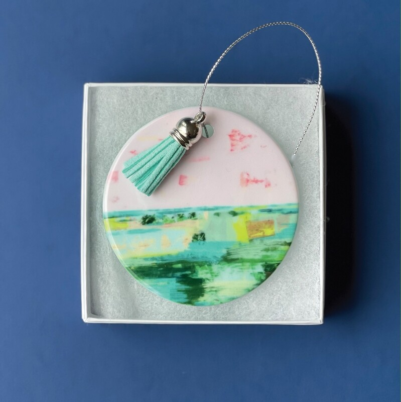 Pink Pebble Beach Ornament