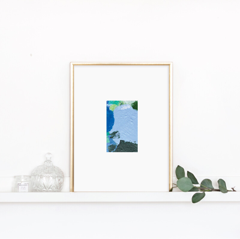 Matted Palette Print No. 9
