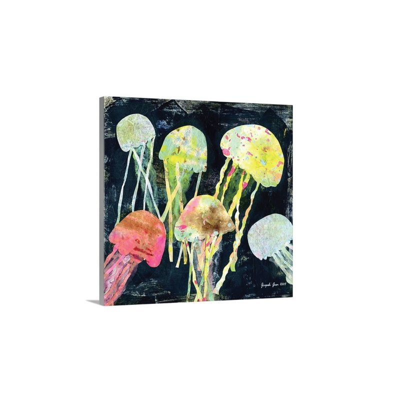 Jellyfish Canvas Reproduction (16 x 16)