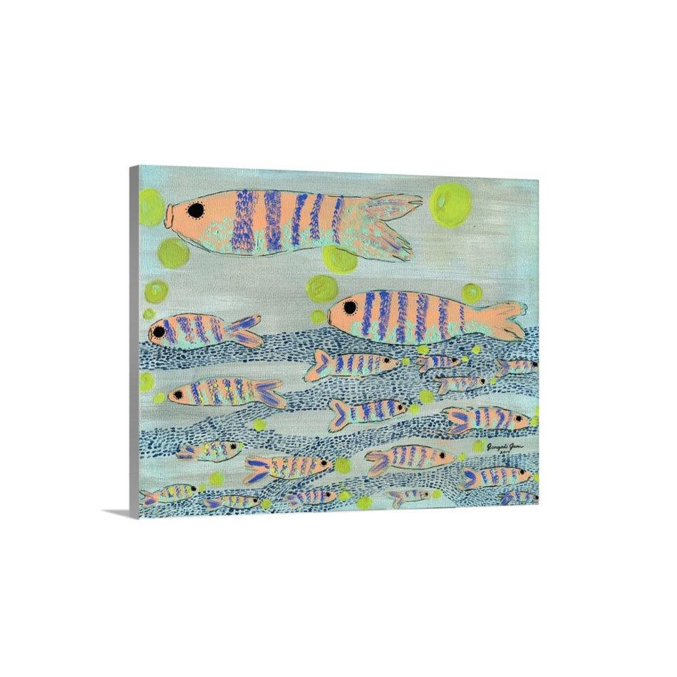 Fishy, Fishy Cross My Ocean Canvas Reproduction (16 x 20)