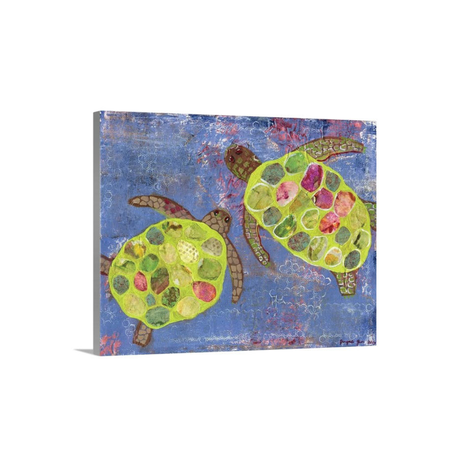Turtles Canvas Reproduction (16 x 20)