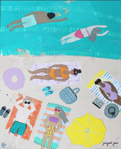 Teal Me to the Beach (16x20)