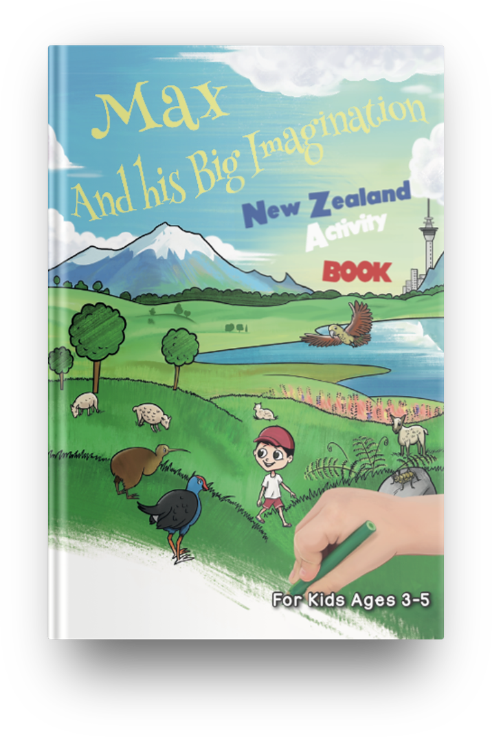 New Zealand Activity Book (Age 3-5) - PDF Instant Download