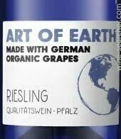 RETAIL  - Art of Earth, Organic Riesling, Germany - semi sweet