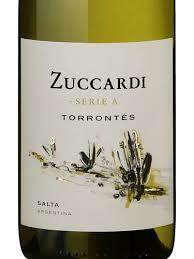 RETAIL  - Zuccardi Torrontes, off dry white wine, Italy