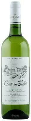 RETAIL  - Chateau Gillett Bordeaux Blanc, Sauvignon Blanc/Semillon Blend, France