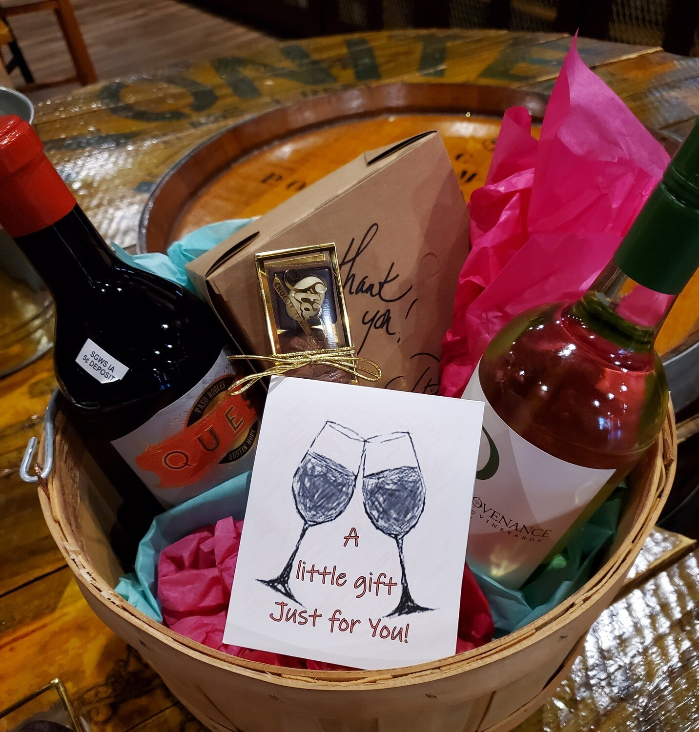 Send Love...and Wine :-) Build a basket to send to a Friend