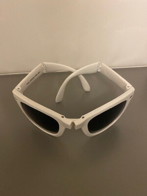 Section W-3N White Collapsible Sunglasses