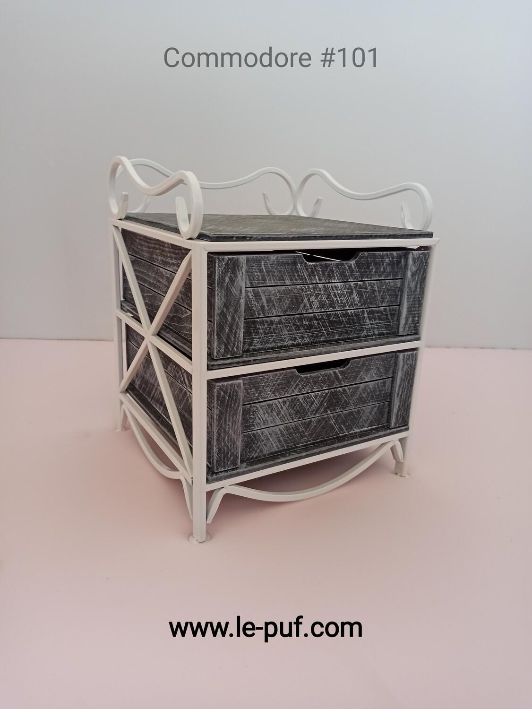 Кованая прикроватная тумбочка с 2-мя выдвижными ящиками