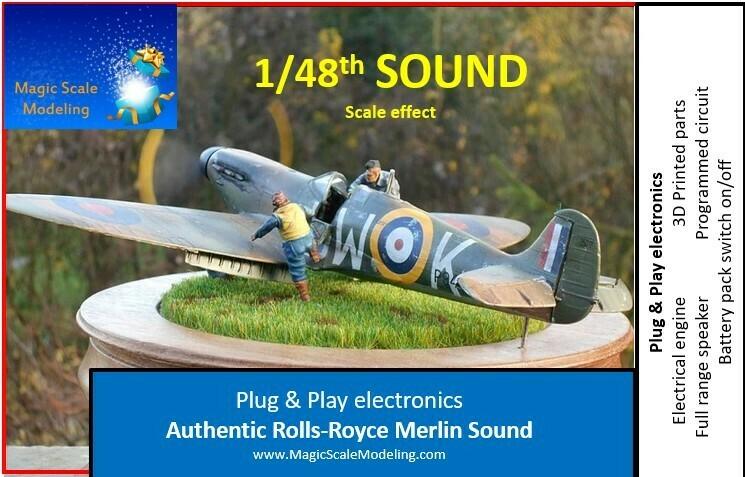 1/48th Merlin engine - Electric engine & Sound