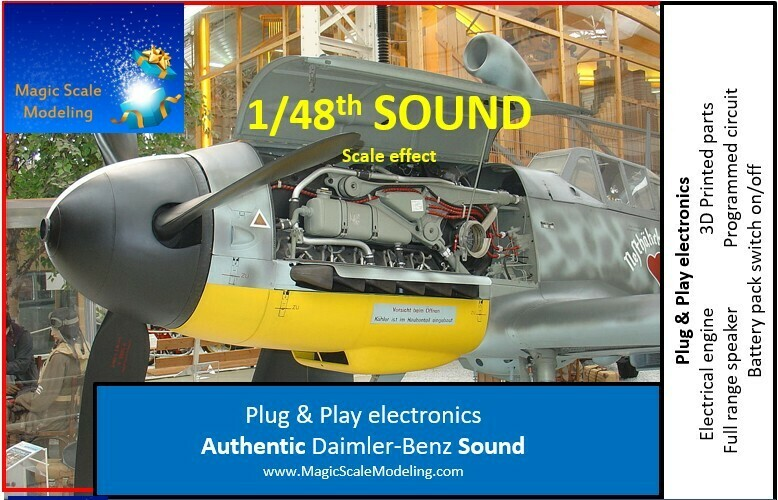 1/48th Daimler-Benz engine - Electric engine & Sound