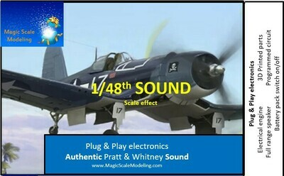 1/48th Pratt & Withney engine - Electric engine & Sound