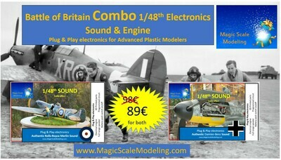 Combo Battle of Britain - 1/48th Daimler-Benz AND Rolls-Royce Merline engines - Electric engines & Sound