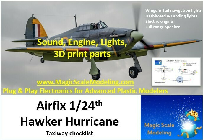 Hawker Hurricane - SOUND + Motors & Lights set  - 1/24