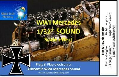 1/32th World War 1 Mercedes engine - Electric engine & Sound