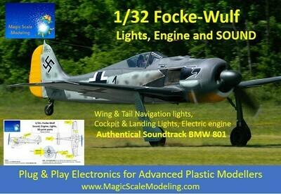 Focke-Wulf 190 - SOUND + Motors & Lights set  - 1/32