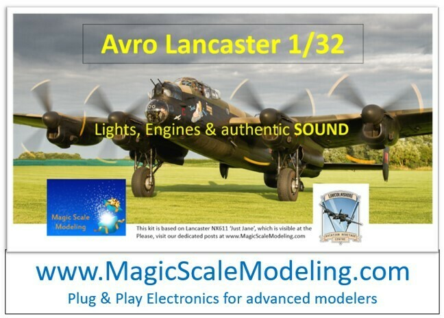 Avro Lancaster - 1/32  - Motors, Sound & Lights set - Taxiway