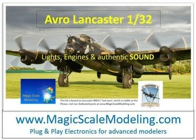 Avro Lancaster - 1/32  - Motors, Sound & Lights set - Taxiway