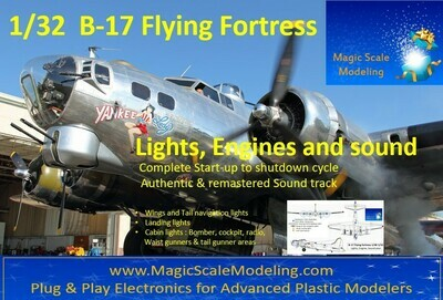 B-17 Flying Fortress - 1/32  - Motors, Sound & Lights set - Taxiway