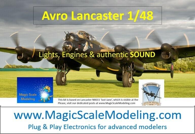 Avro Lancaster - 1/48  - Motors, Sound & Lights set - Taxiway