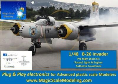 B-26 Invader - 1/48  - Motors, Sound & Lights set - Taxiway