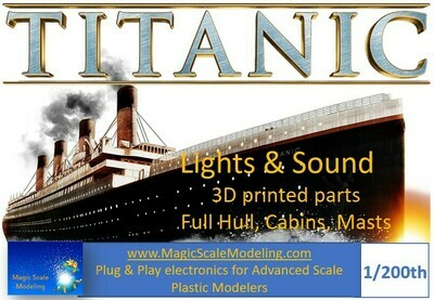 Electronics for RMS Titanic 1/200 - Lights & SOUND