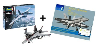 Combo Revell F18 Super Hornet + Plug and Play Electronic light set