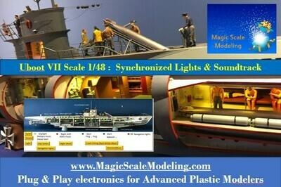 Uboat VII 1/48th Trumpeter - Light & Sound electronic set