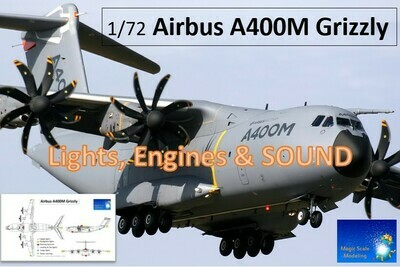 Airbus A400M - Sound, Motors & Lights set for Revell 1/72 scale