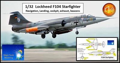 F104 Starfighter with SOUND  - 1/32 - Lights set