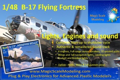 B-17 Flying Fortress - 1/48 (dedicated for Revell)  - Motors, Sound & Lights set - Taxiway
