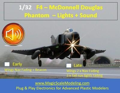 F4 Phantom - Lights sets and SOUND - 1/32