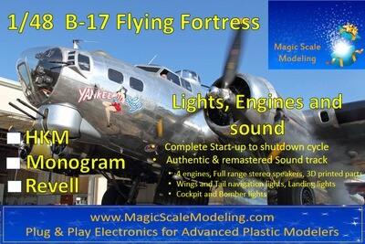 B-17 Flying Fortress - 1/48 - Motors, Sound & Lights set - Taxiway (HK Models, Monogram, Revell)