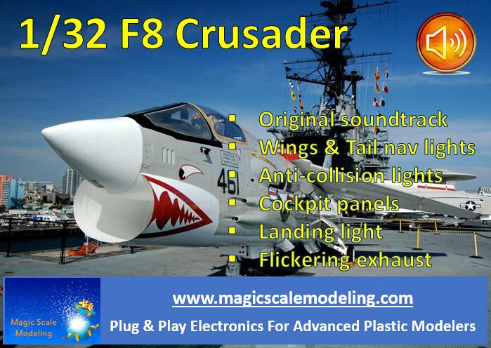 F8 Crusader - Lights set and sound - 1/32