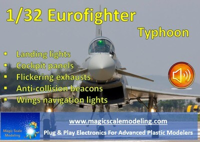 Eurofighter Typhoon - 1/32 - Light set and sound
