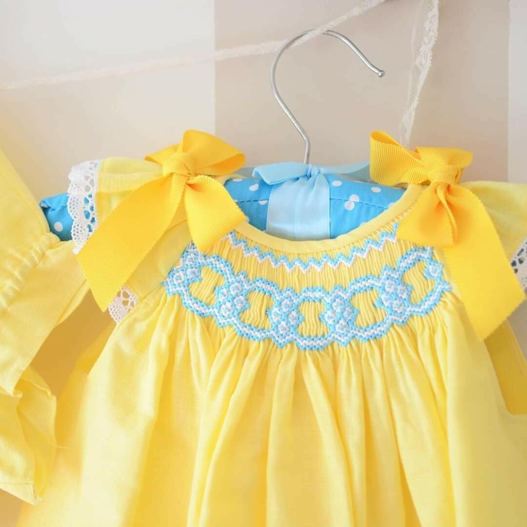 Vestido y braguita Lino Amarillo Limon