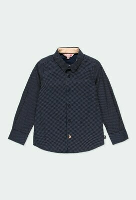 Camisa popelín con coderas de niño