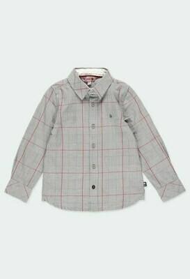 Camisa manga larga cuadros de niño