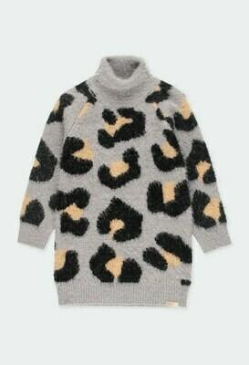 Vestido tricotosa animal print de niña