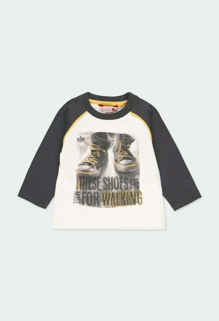 "Camiseta punto ""zapatos"" de bebé niño"