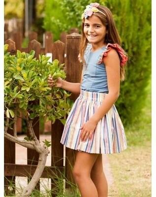 Falda y camisa Debesos talla 8 años