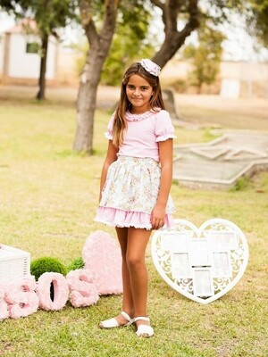 Falda y camisa Debesos 8 años