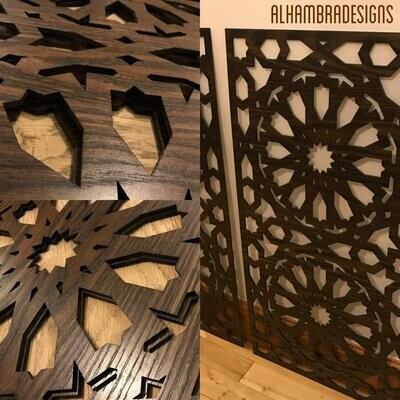 Custom Ayaat ul KURSI wooden panel (installment 1)
