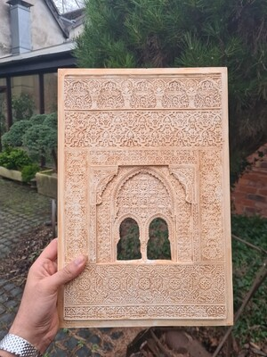 Double archway window - Alhambra Miniature carving