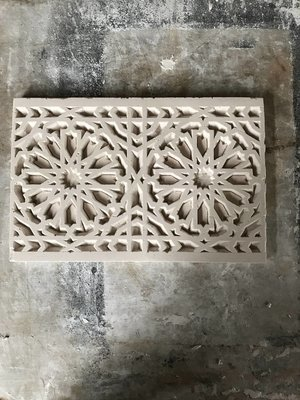 Double Pattern Geometric panel