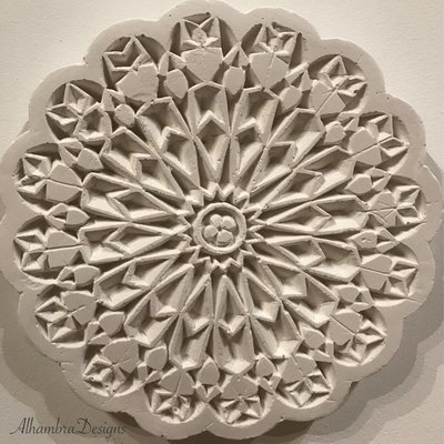 Floral Geometry Plaque