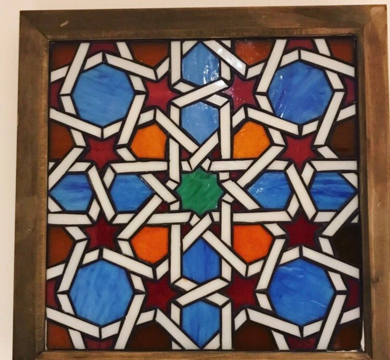Geometric Stained Glass 'The Golden Ratio'